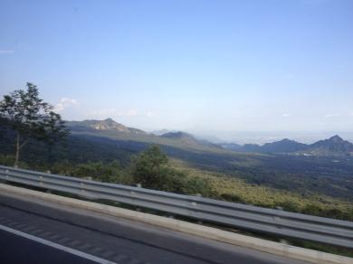Paisaje de Morelos, tomado desde el bus