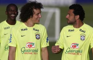 Brazil David Luiz and Fred